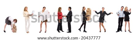 lots of business people with different concepts - stock photo