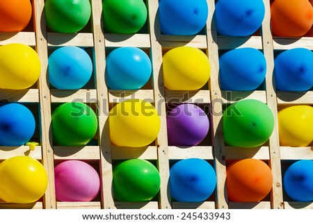 Lots of Colorful Balloons - stock photo