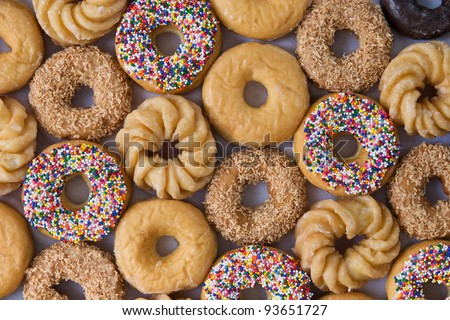 lots of donuts - stock photo
