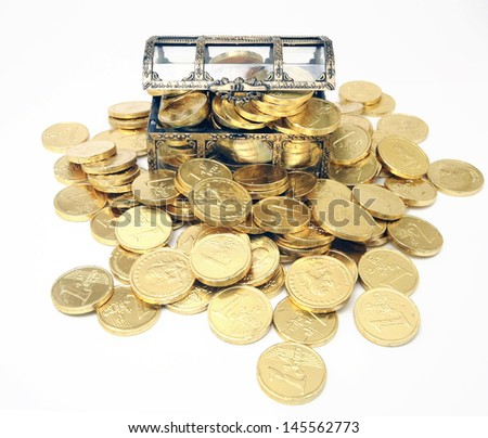 lots of gold  - stock photo