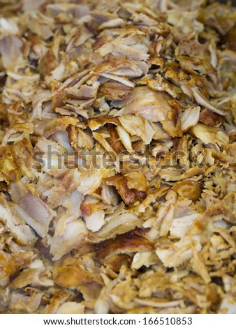 Lots of Greek Gyros meat - stock photo