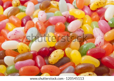 Lots of jelly beans for background use - stock photo