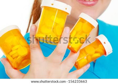 Lots of pills - stock photo