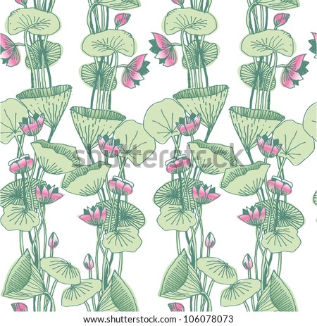 Art Nouveau Flower Images Lotus Flowers in Art Nouveau
