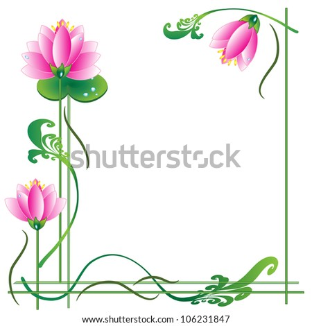 Lotuses ,frame - stock photo