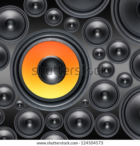 Loud Speakers background - stock photo