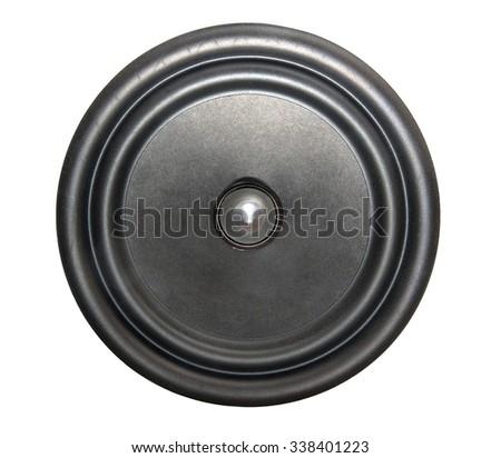 Loudspeaker isolated on white background - stock photo