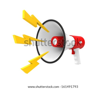 Loudspeaker or Megaphone Isolated - stock photo