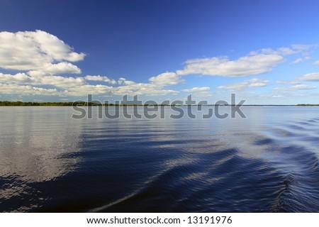 Lough Allen on the river Shannon, Ireland. - stock photo