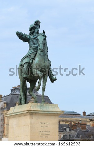 Louis XIV king of France in Versailles - stock photo