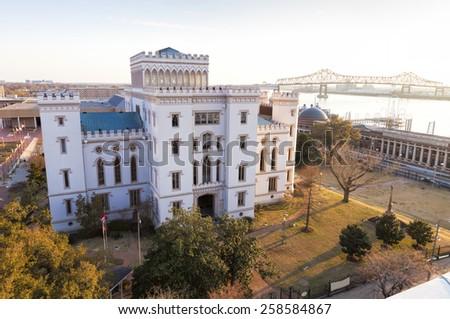 Louisiana Old Capitol Building - stock photo