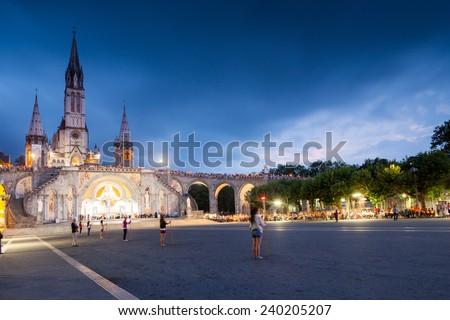 Lourdes - stock photo