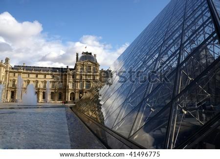 louvre museum Paris - stock photo