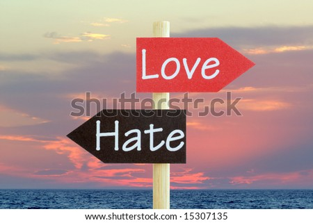 Love and Hate Abstract - stock photo