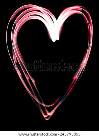 love and light ,Valentine Day  - stock photo