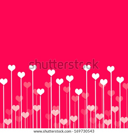 Love background with hearts  - stock photo