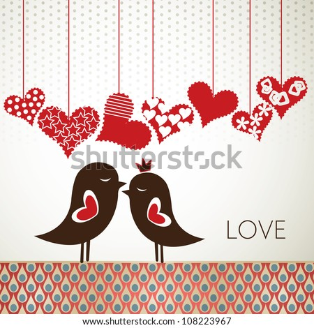 Love birds - stock photo