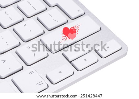 Love concept, Love key on the computer keyboard - stock photo