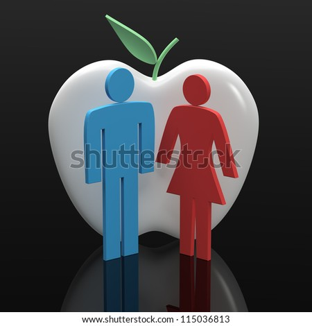 Love Dating - stock photo