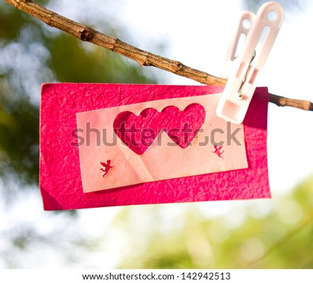 Love declared in the open - stock photo