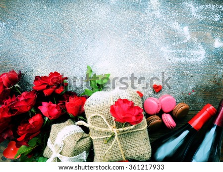 love ,Gifts for Valentine's Day - stock photo