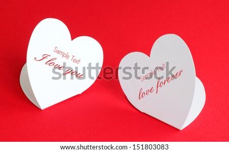 love Heart card paper - stock photo