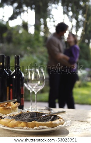 love in a country farm - stock photo