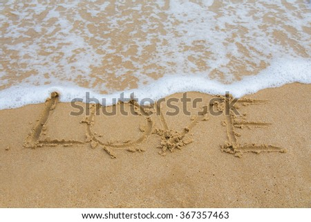 love in the sea - stock photo