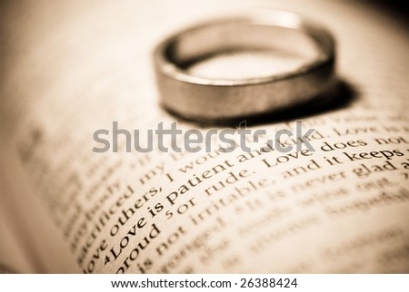 Love is Patient and Kind - stock photo