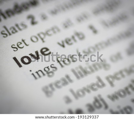 love meaning, close up - stock photo