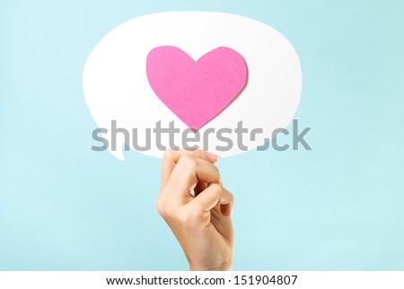Love message concept - stock photo