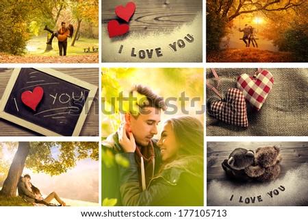 Love Montage - stock photo