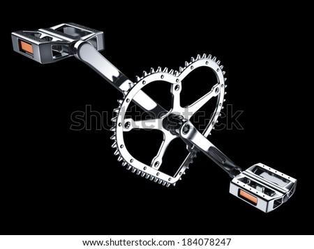 love my bike - stock photo