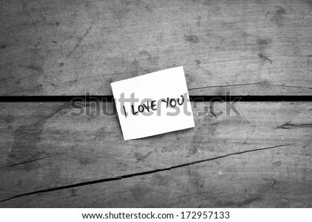 Love note - stock photo