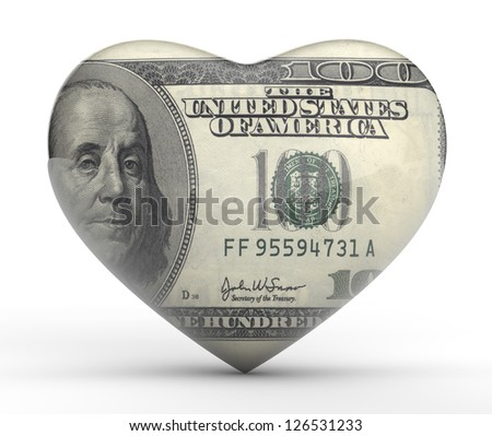 Love of Money - stock photo