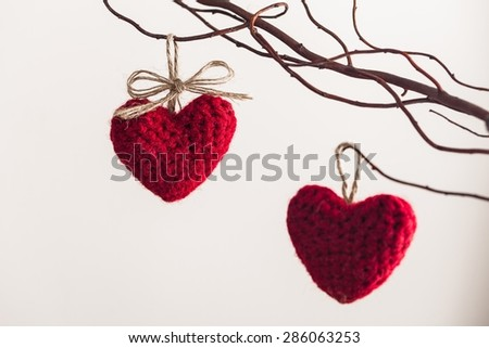 Love, paper, heart. - stock photo