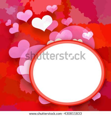 Love photo frame - stock photo