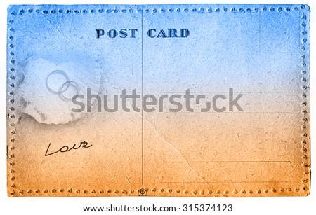 Love postcard - stock photo