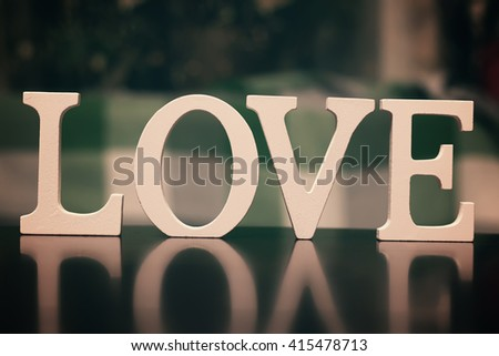 love shape text letter - stock photo