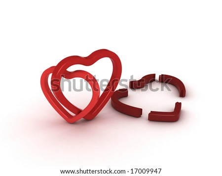 love triangle - stock photo