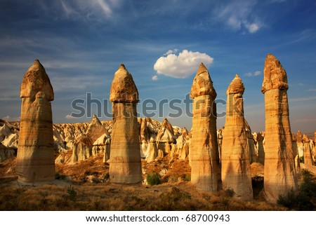 Love valley in Cappadocia - stock photo