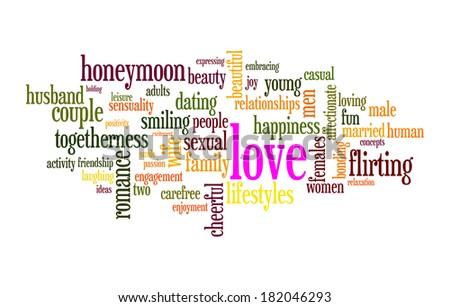 Love word cloud conceptual image - stock photo