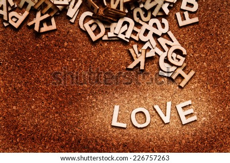 love word written with wooden letters - stock photo