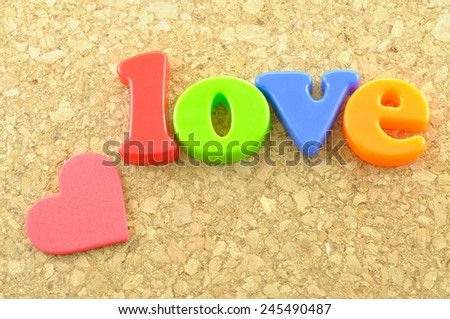 love wording on valentine day  - stock photo