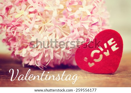 lovely background - german for valentines day - stock photo