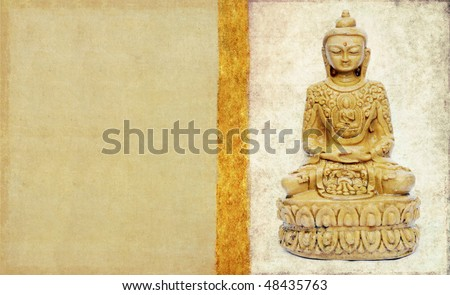 lovely background image with buddha - stock photo