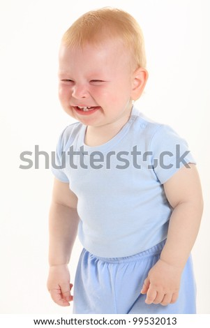 """lovely cute baby, """"laughs - stock photo"""