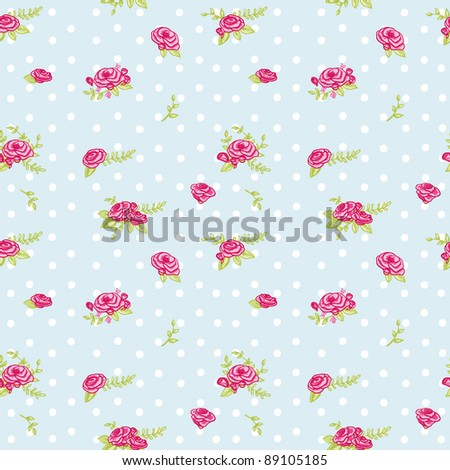 lovely floral seamless pattern - stock photo