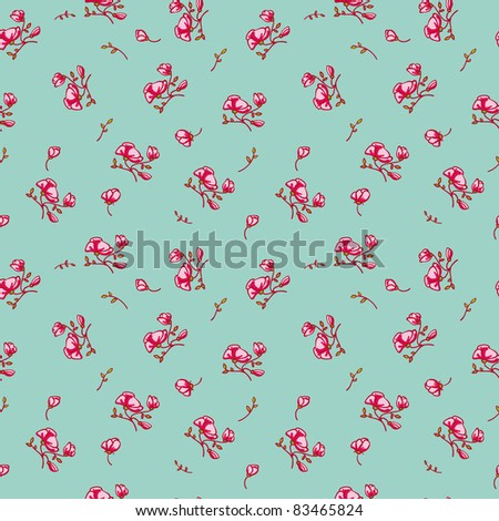 lovely floral seamless pattern in jpg - stock photo