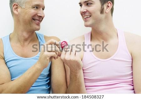 Lovely gay couple - stock photo